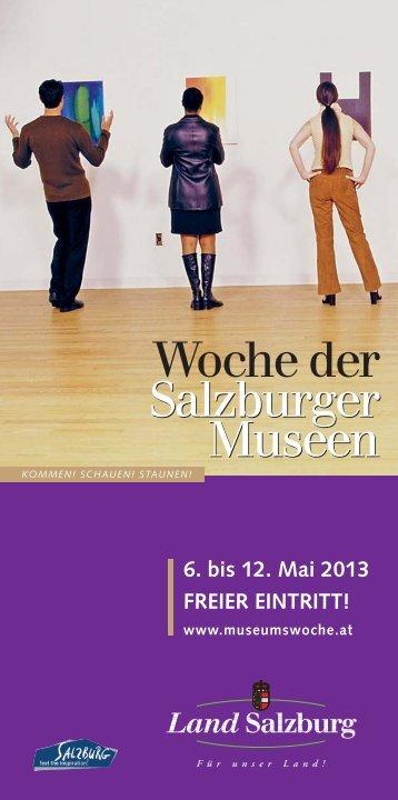 Museumswoche 2013 - Land Salzburg
