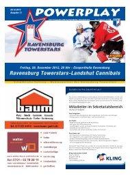 28.12.2012 – Heft zum Spiel gegen Landshut - Towerstars