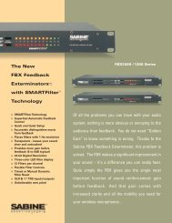 FBX 1200 2400 PDF version brochure 05-04.qxd - Sabine, Inc.