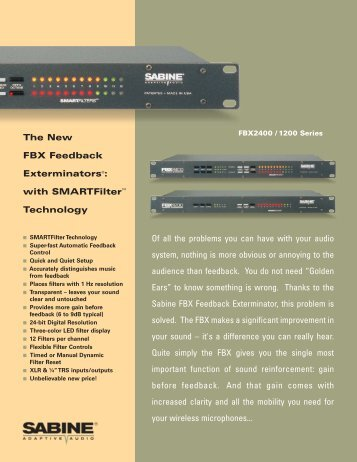 FBX 1200 2400 PDF version brochure 05-04.qxd - Sabine, Inc.