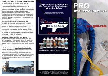 PRO-2 Segel-Regenerierung für Dacron- und ... - Co-Segel