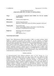 A vásárokról és piacokról szóló 31/2004. - Tapolca