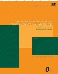the new england abe-to-college transition project evaluation report