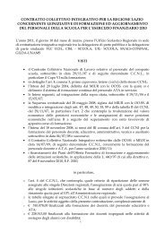 Contratto Integrativo Regionale - Info-Scuole