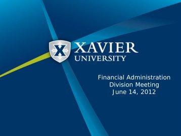 View Presentation - Xavier University