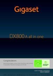 Siemens Gigaset DX800A User Manual (PDF)