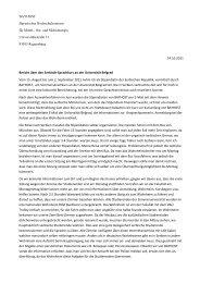 BAYHOST Bayerisches Hochschulzentrum für Mittel-, Ost- und ...