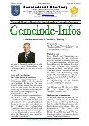 Rundschreiben 32010 - Oberhaag