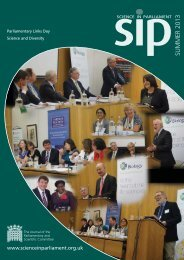 Science in Parliament Summer 2013 - Institute of Physics and ...