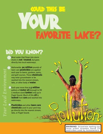Your Favorite Lake - Education - King County Solid Waste Division