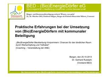 Dr. Gerhard Rudolphi: Praktische Erfahrungen bei der Umsetzung von ...