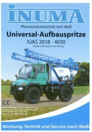 PDF-Datei 1 MB - INUMA Fahrzeug-Service und Maschinenbau GmbH