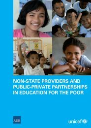 non-state providers and public-private partnerships in ... - Unicef