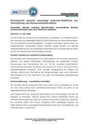 PROCHECK24 launcht neuartige Internet-Plattform - procheck24.de