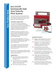 Isco 2151P Intrinsically Safe Area Velocity Flow System (PDF)