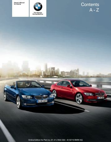 2011 3 Series Owner's Manual without iDrive - Irvine BMW