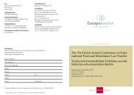 Seminar The 7th Zurich Annual Conference on Inter ... - trusts.ch