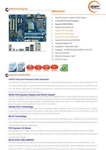 Jetway XBLUE-P43 Intel Chipset Treiber Windows 7