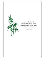 October 2007 Impact Evaluation Report - United Board for Christian ...