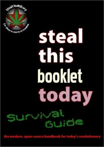 Steal This Booklet Today - Zine Library