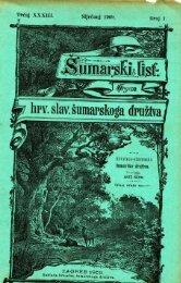 ÅUMARSKI LIST 1/1909