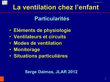 La ventilation chez l'enfant - JLAR