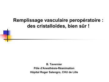 Remplissage vasculaire : Quel soluté choisir en per opératoire - JLAR
