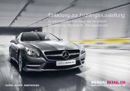 Einladung zur Frühlingsausstellung - Mercedes-Benz Automobil AG