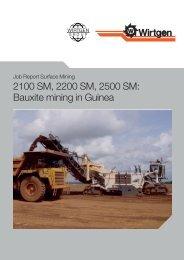 2100 SM, 2200 SM, 2500 SM: Bauxite mining in ... - Wirtgen GmbH