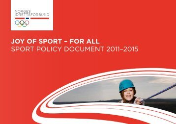 Joy of Sport – for All Sport policy Document 2011–2015
