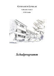 Schulprogramm - Gymnasium Lindlar