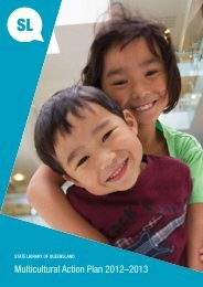 Multicultural Action Plan 2012–2013 - State Library of Queensland