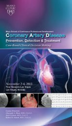 Coronary Artery Disease: Prevention, Detection and ... - Mayo Clinic