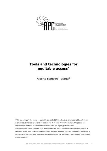 Tools and technologies for equitable access - Association for ...