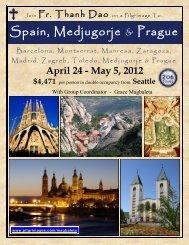 Spain, Medjugorje & Prague - 206 Tours