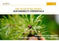 the value of billerud's sustainability credentials mark van der merwe ...
