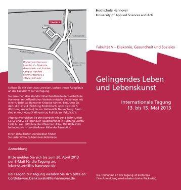 Gelingendes Leben und Lebenskunst - Fakultät V - Hochschule ...