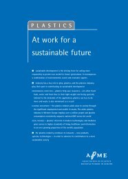 Plastics - At work for a sustainable future - Overview