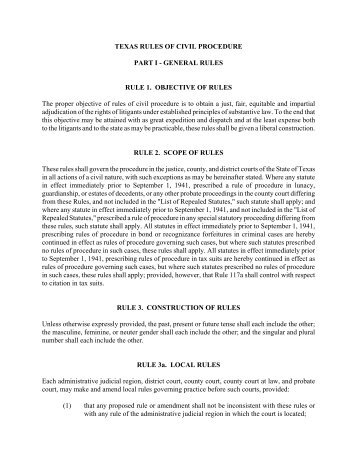 County Court Civil Procedure