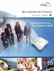 Hospitality Solution Brief - Meru Networks