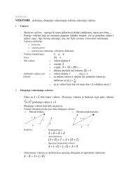 VEKTORI – definicija, zbrajanje i oduzimanje vektora, množenje ...