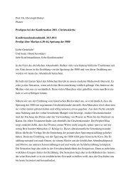 Dinkel, Predigt Mt 5,13-16, Konfirmation