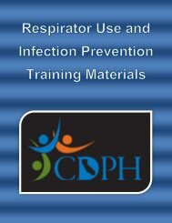 Respirator Use and Infection Prevention Training Materials