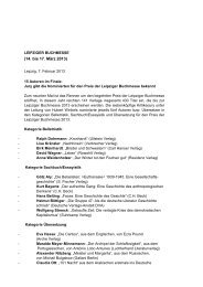(14. bis 17. März 2013) - Preis der Leipziger Buchmesse