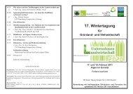 17. Wintertagung - Ökosoziales Forum