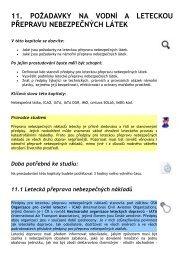 11. požadavky na vodní a leteckou přepravu nebezpečných látek