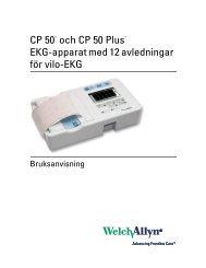 Bruksanvisning för CP 50 EKG-apparat - Welch Allyn