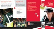 First Aid Services Volunteer brochure (pdf) - St John Ambulance ...