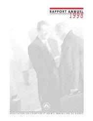Rapport annuel 1998 - oaciq