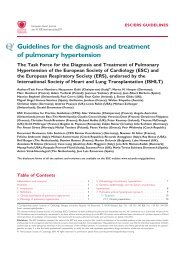 Guidelines for the diagnosis and treatment of pulmonary hypertension
